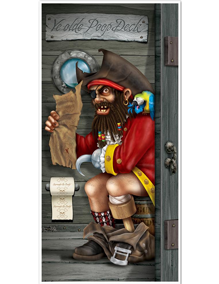 Decoración Puerta Pirata Baño