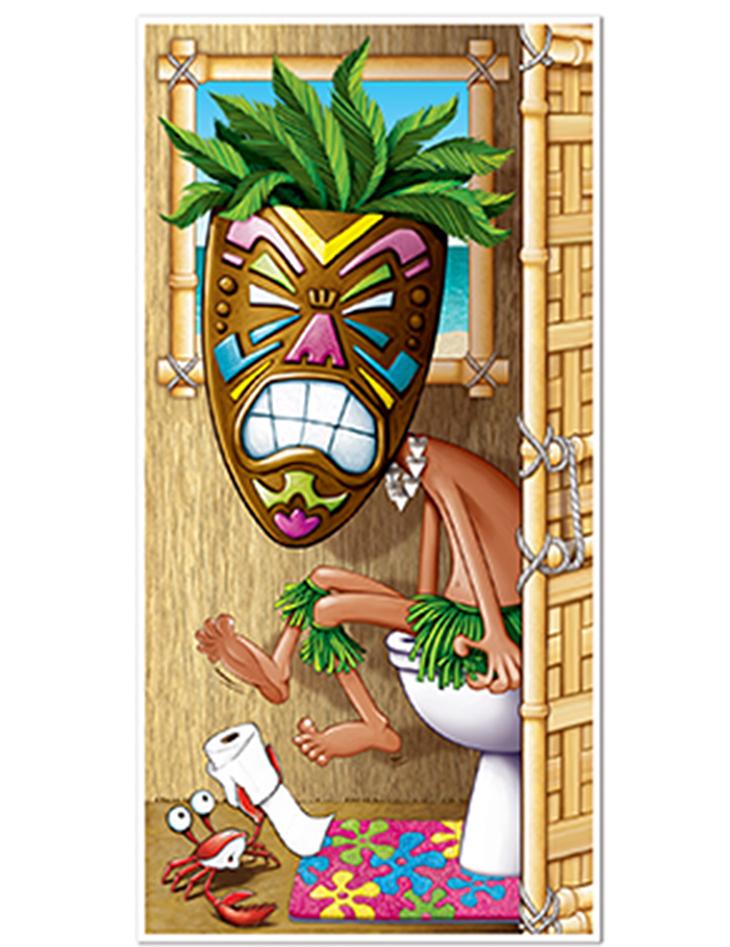 3545bb0166a5d Decoración puerta de baño Hawai