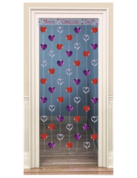 Decoraci n puerta corazones san valent n decoraci n y for Decoracion de puertas de san valentin