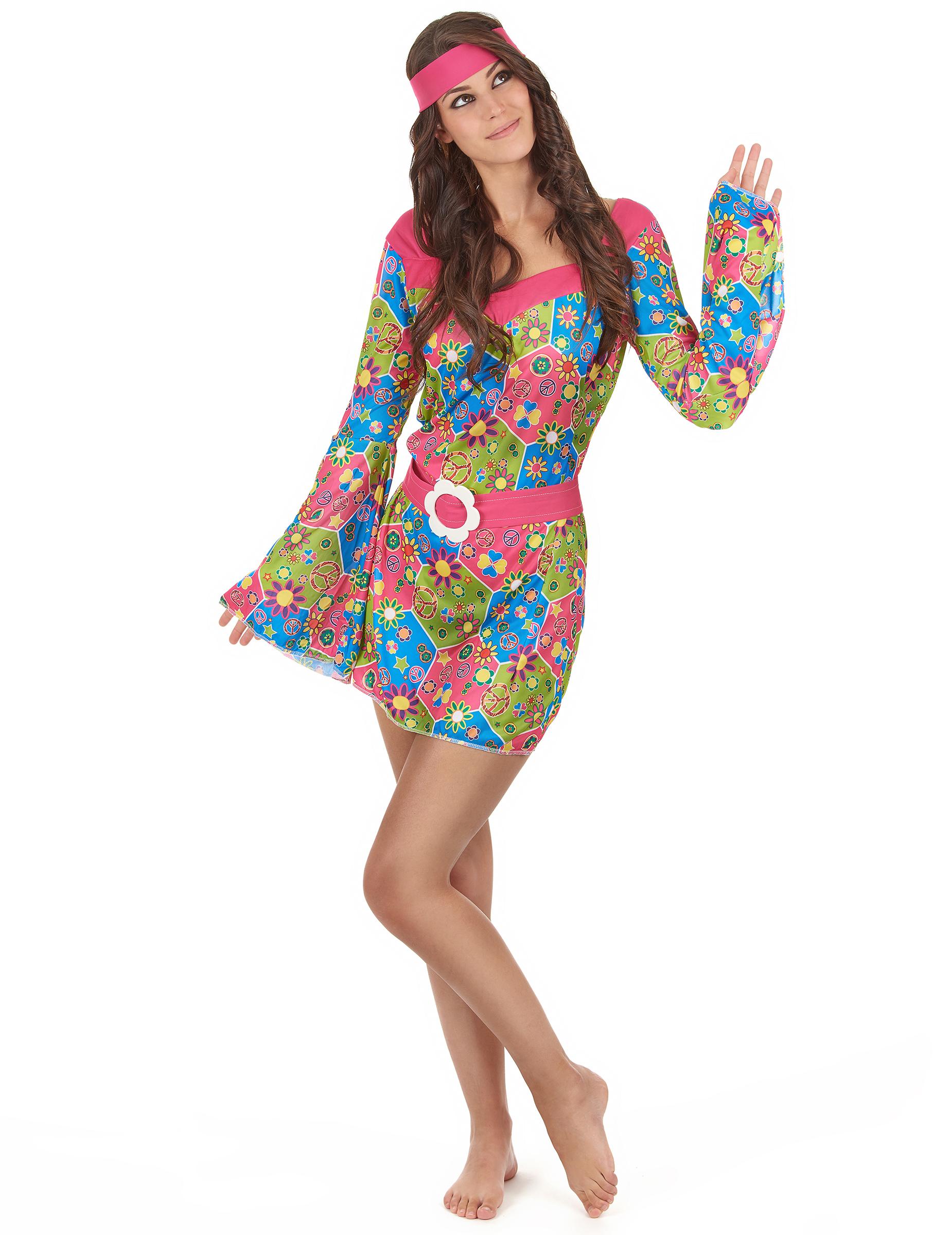 disfraz de flores hippie disfraces adultos y disfraces originales baratos vegaoo. Black Bedroom Furniture Sets. Home Design Ideas