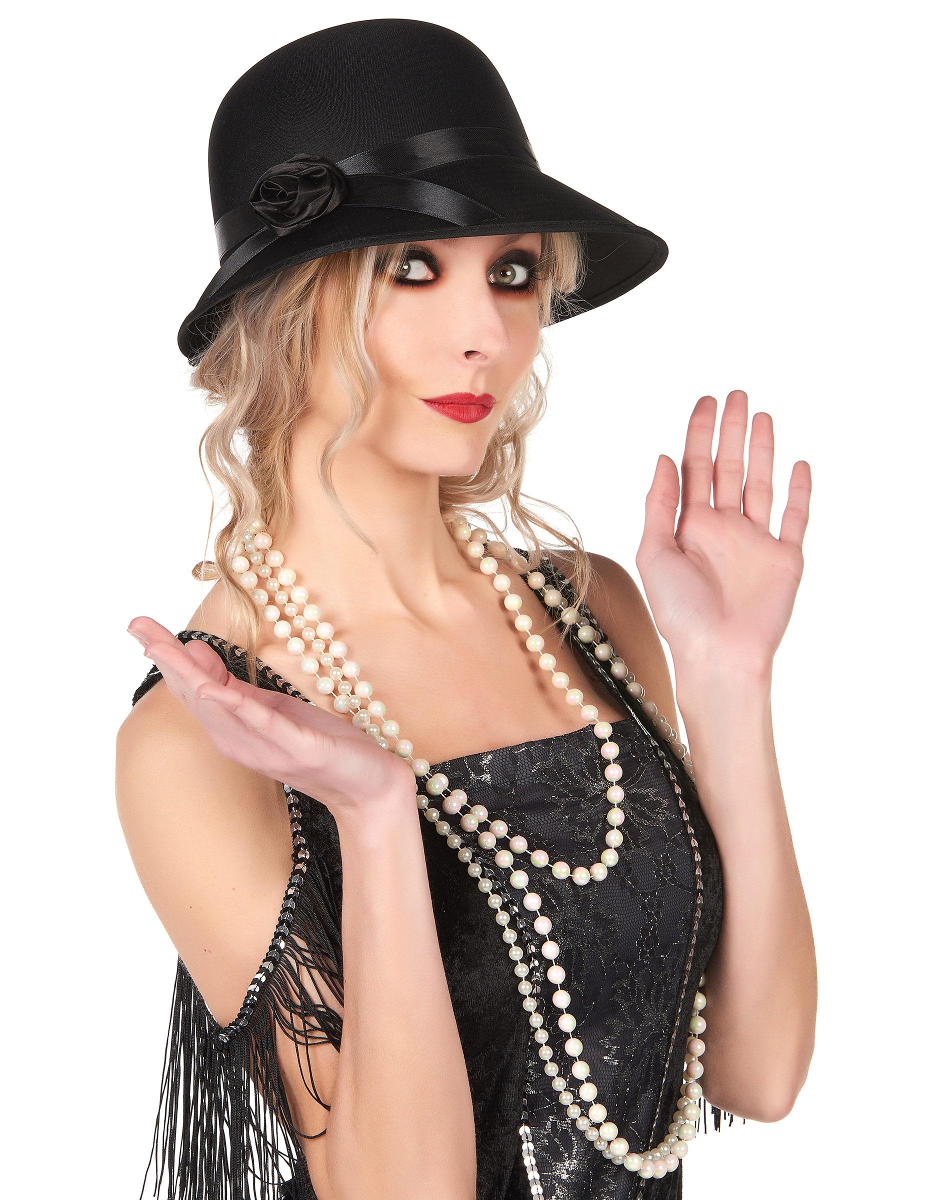 Gorro charlestón años 20 mujer  Sombreros a06d8983533