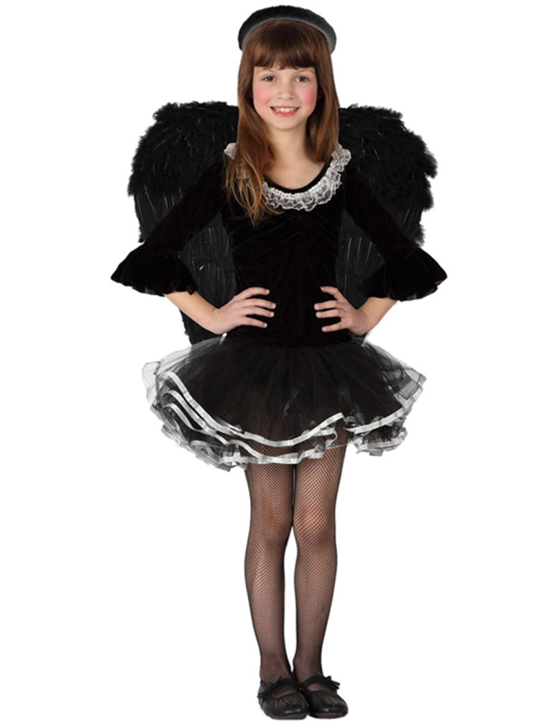 Disfraz de ngel negro ni a - Disfraces de angel para nina ...