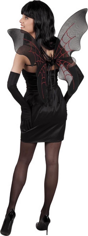 Alas negro y rojo mujer Accesoriosy disfraces originales baratos - Vegaoo