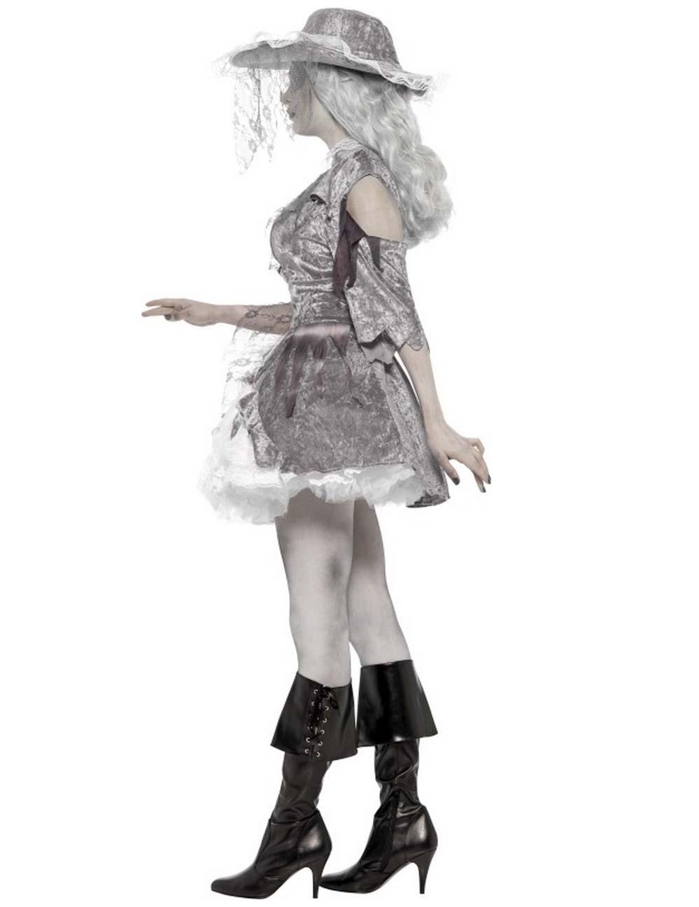 Disfraz pirata fantasma mujer Halloween: Disfraces adultos ...