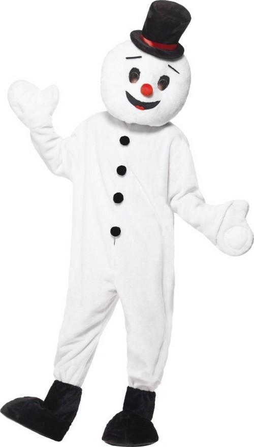 disfraz mueco de nieve mascota adulto navidad