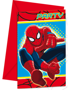6 Tarjetas De Invitación Spiderman