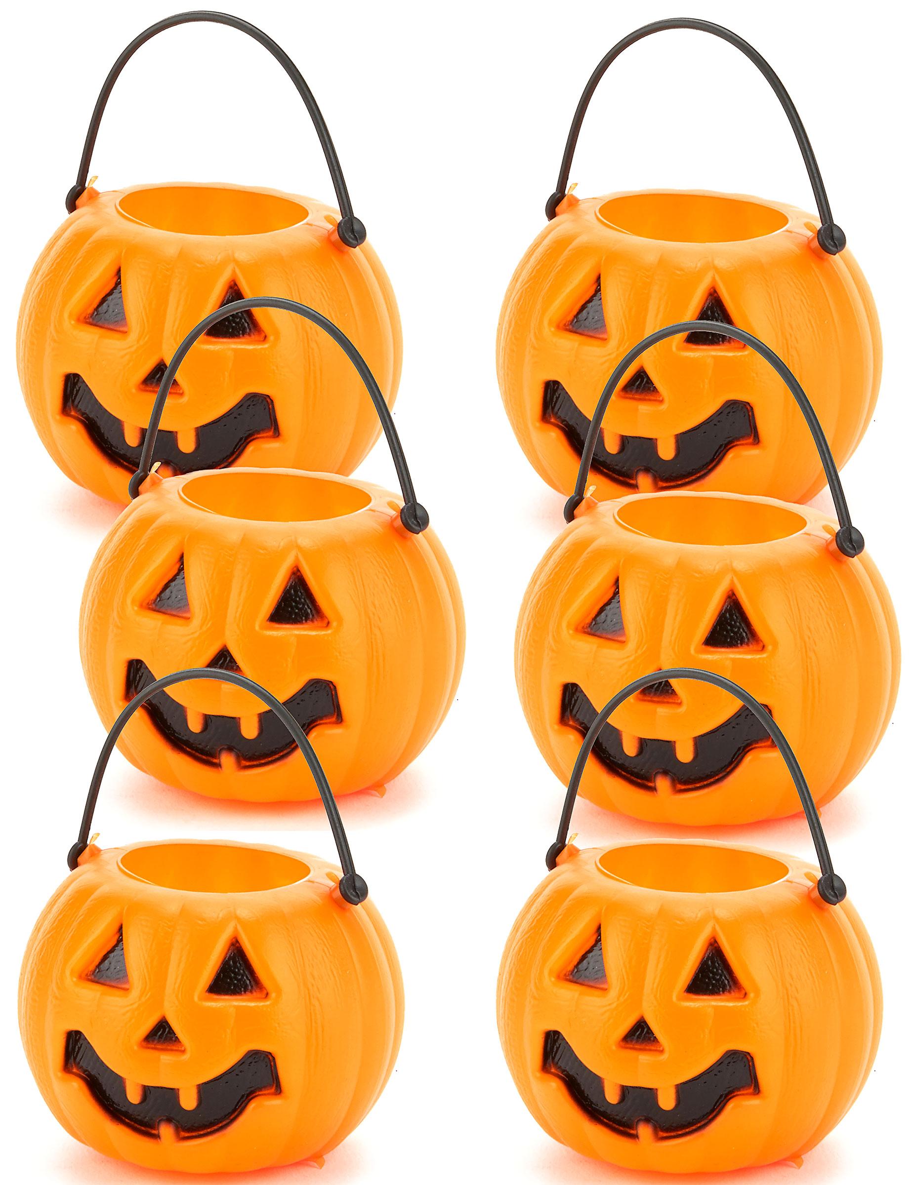set de 6 calabazas halloween accesorios y disfraces originales baratos vegaoo. Black Bedroom Furniture Sets. Home Design Ideas
