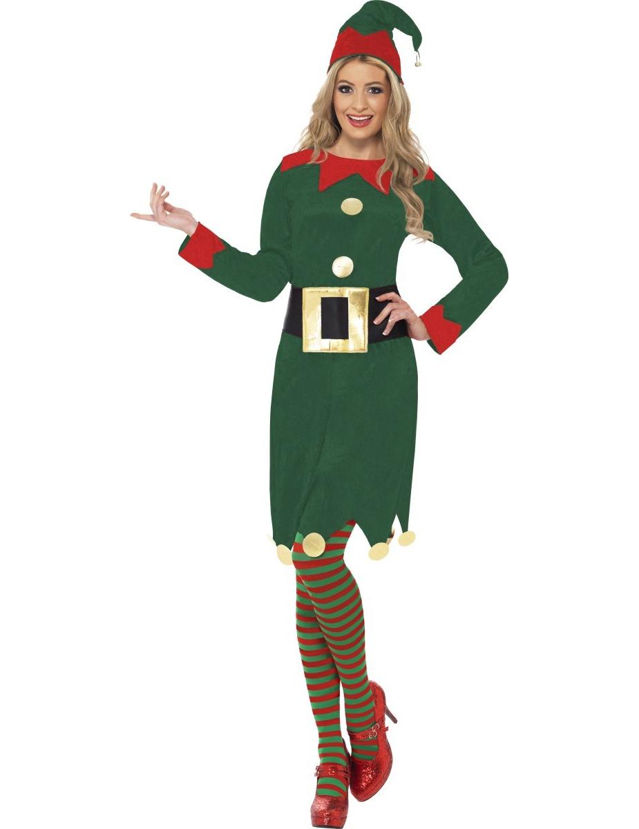 disfraz elfo mujer navidad