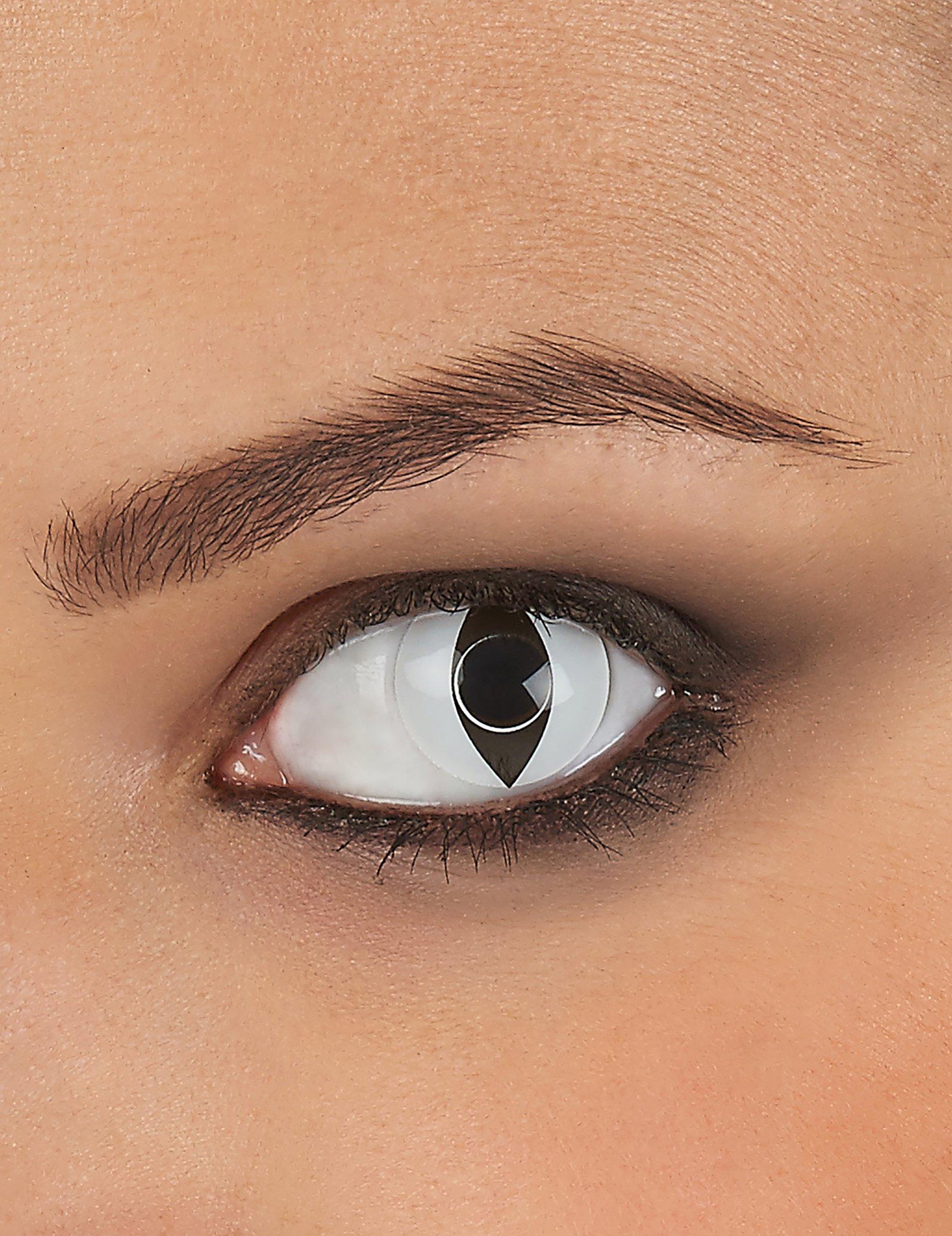 8de76079b2 Lentillas de contacto blancas ojo de reptil: Maquillaje ,y disfraces ...