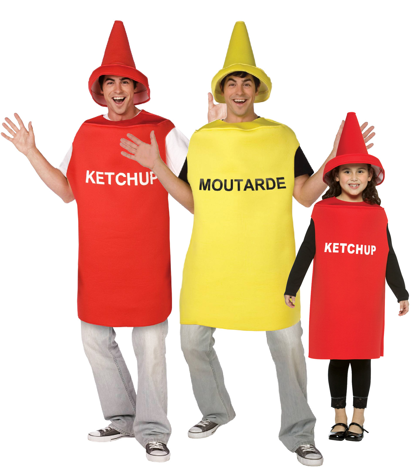 disfraz de familia ketchup mostaza