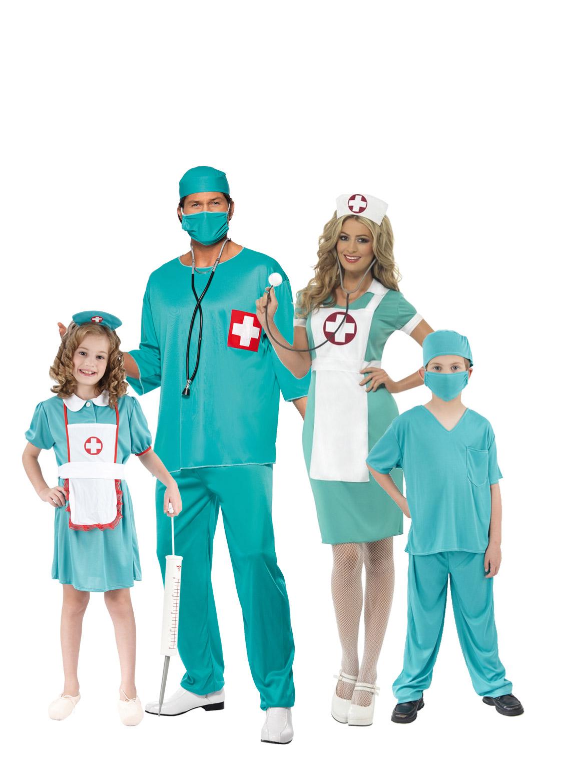 Disfraz de familia cirujano - Disfraces en familia ...