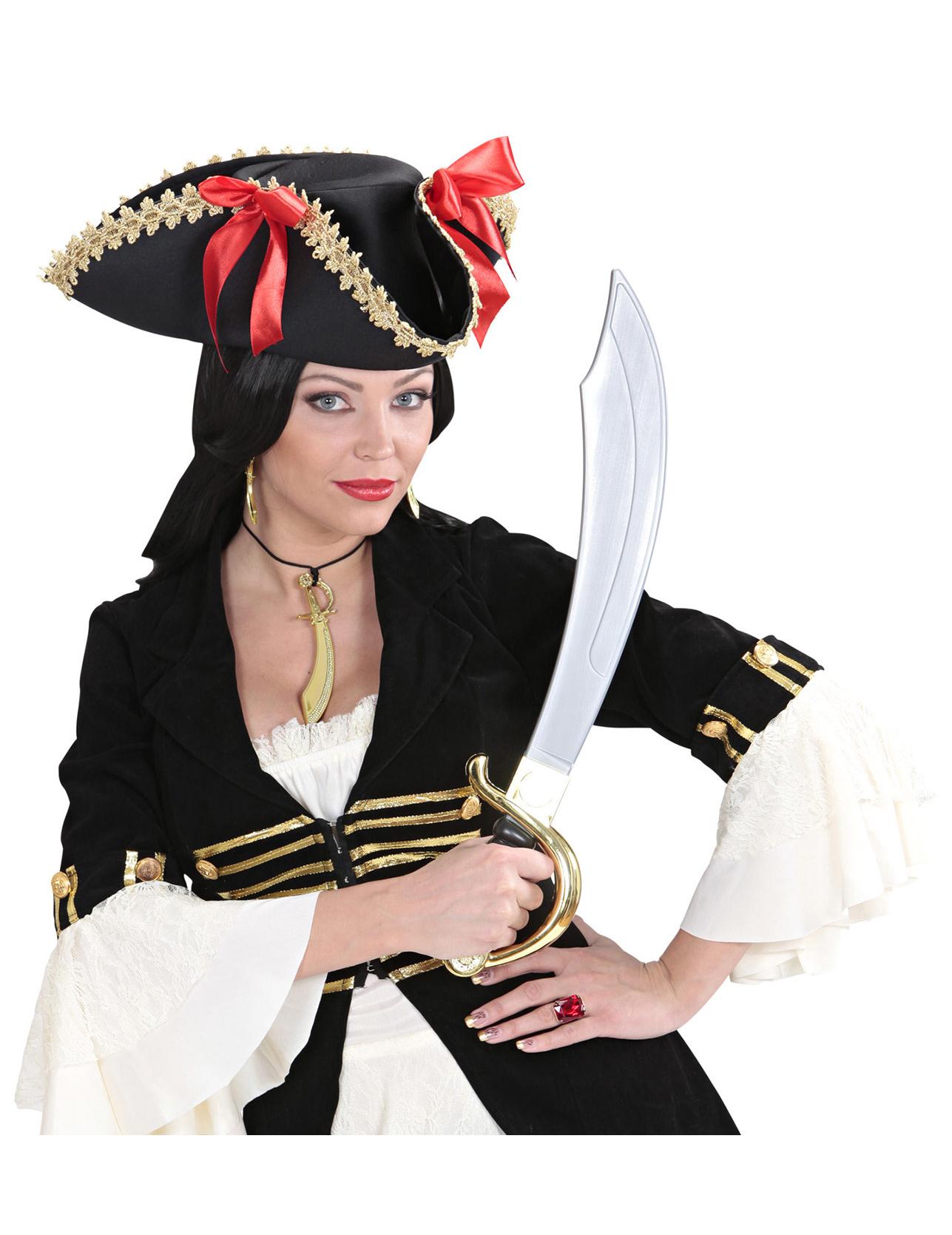 4a54dcdf7630 Kit de collar y pendientes piratas  Accesorios