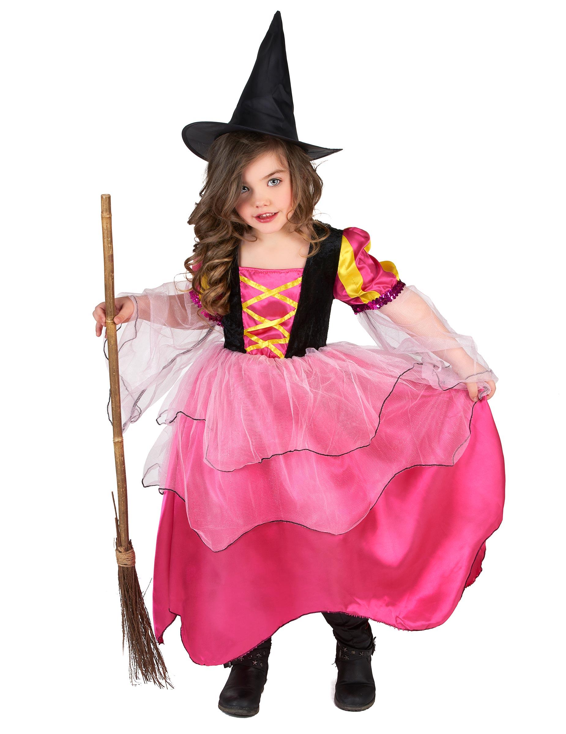 Disfraz bruja rosa niña Halloween: Disfraces niños,y disfraces ...