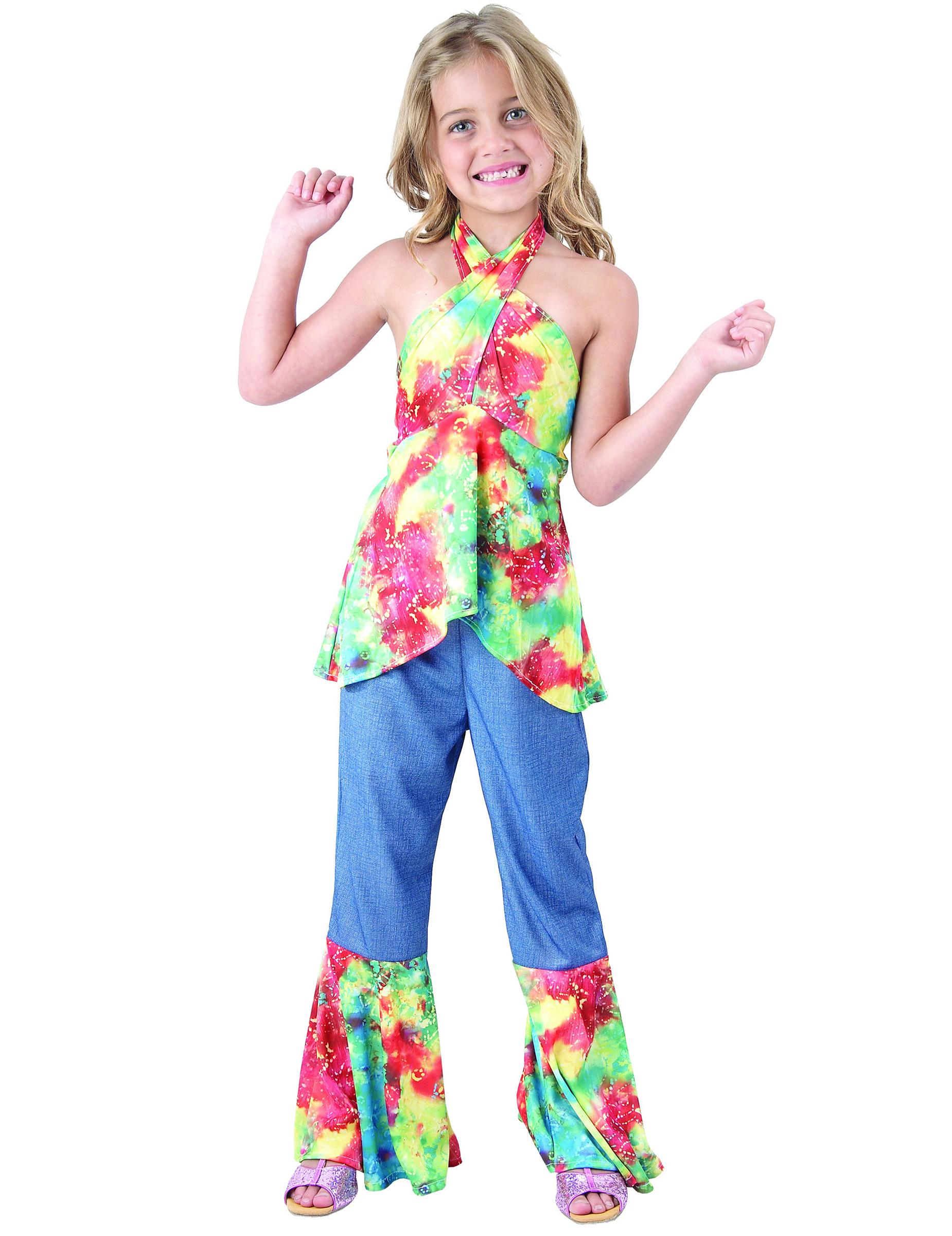 Disfraz de hippie niña  Disfraces niños 2d4440b93d40