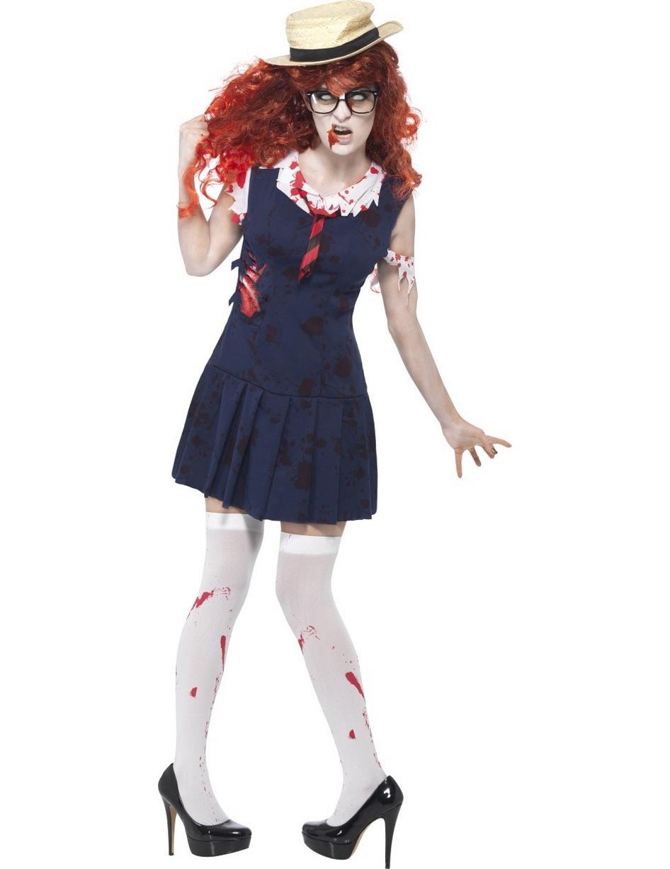 Disfraz zombie colegiala mujer Halloween Disfraces adultosy