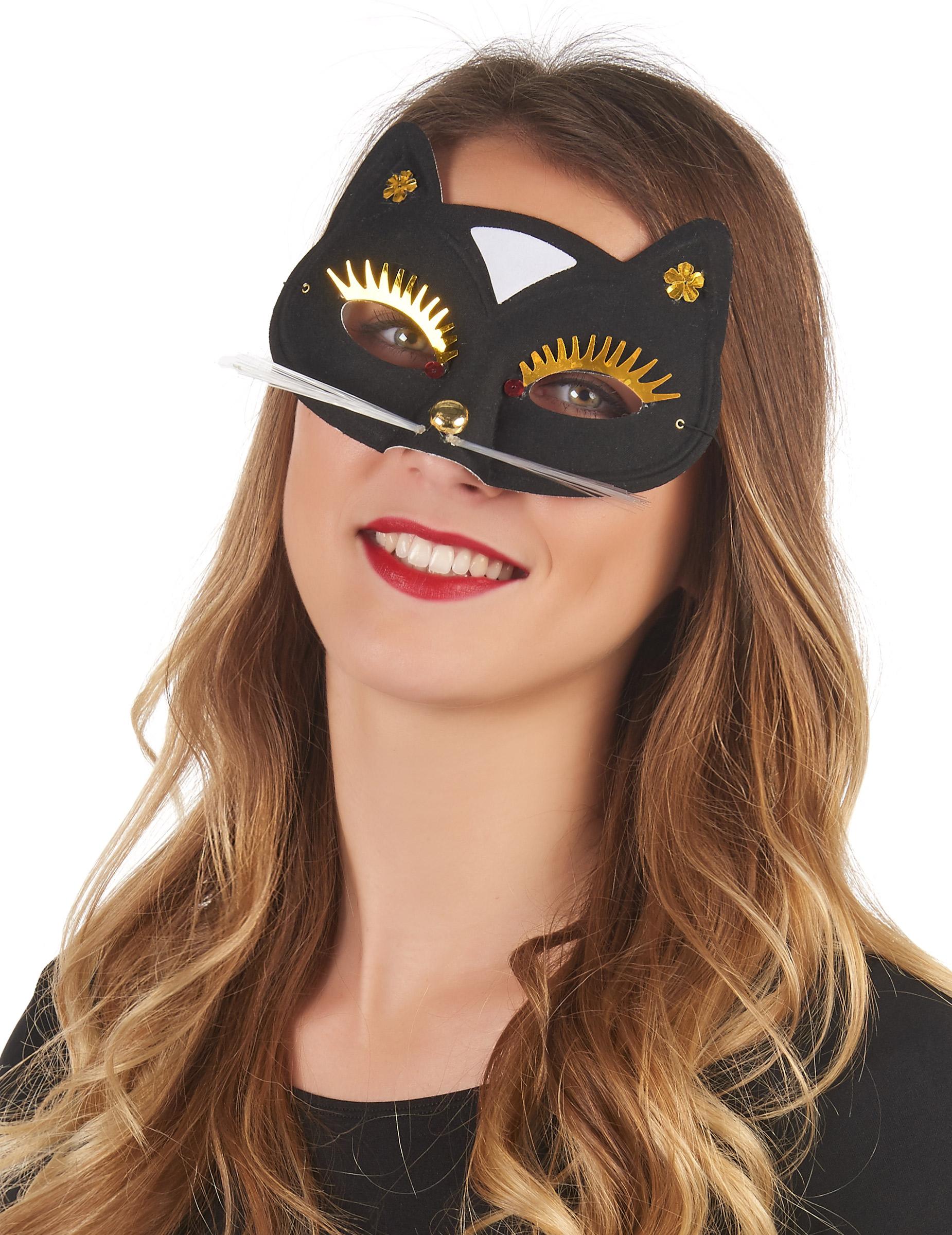 Antifaz gato negro adulto m scaras y disfraces originales - Disfraces el gato negro ...