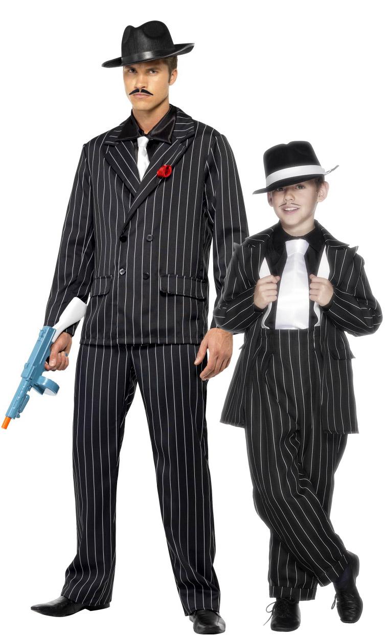 1c540f8b3 Disfraz de pareja gangster charleston padre e hijo  Disfraces ...