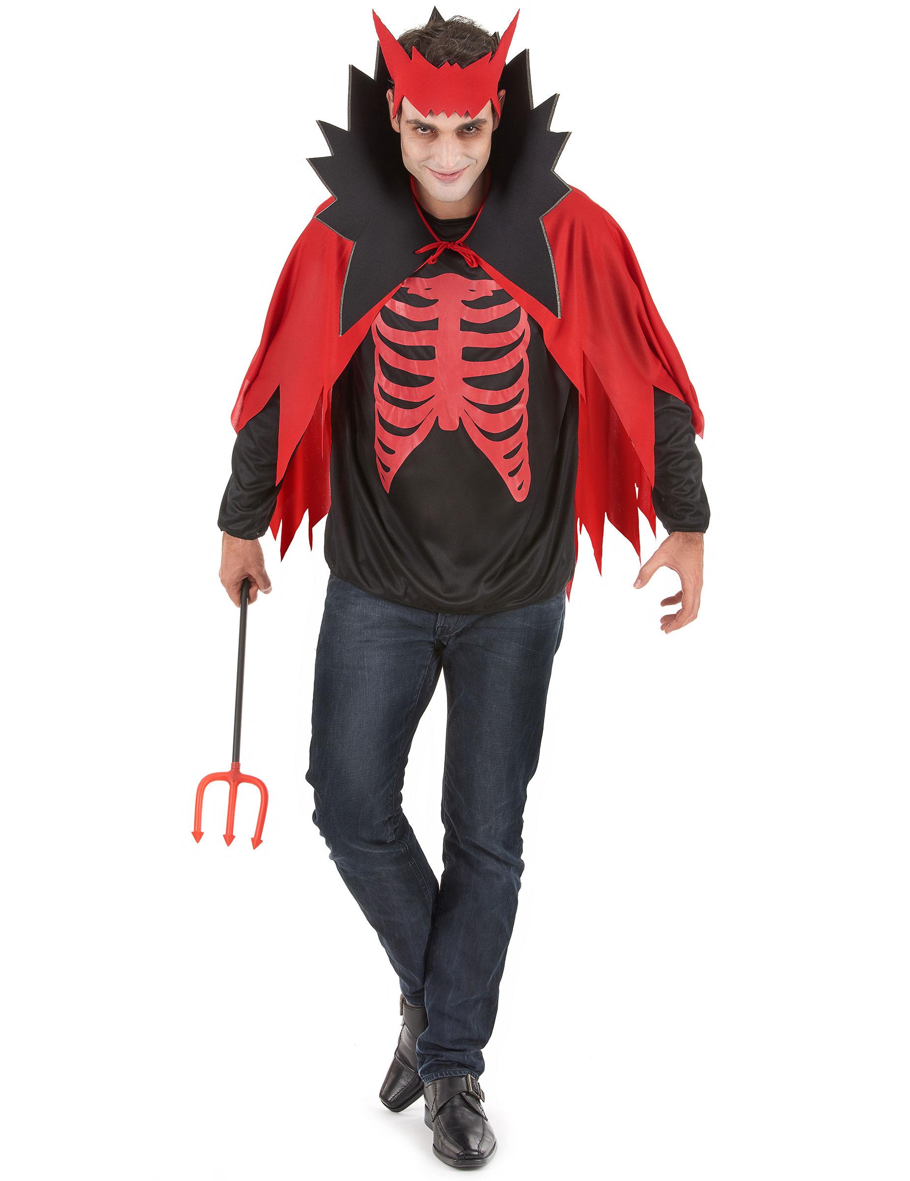disfraz diablo rojo hombre halloween