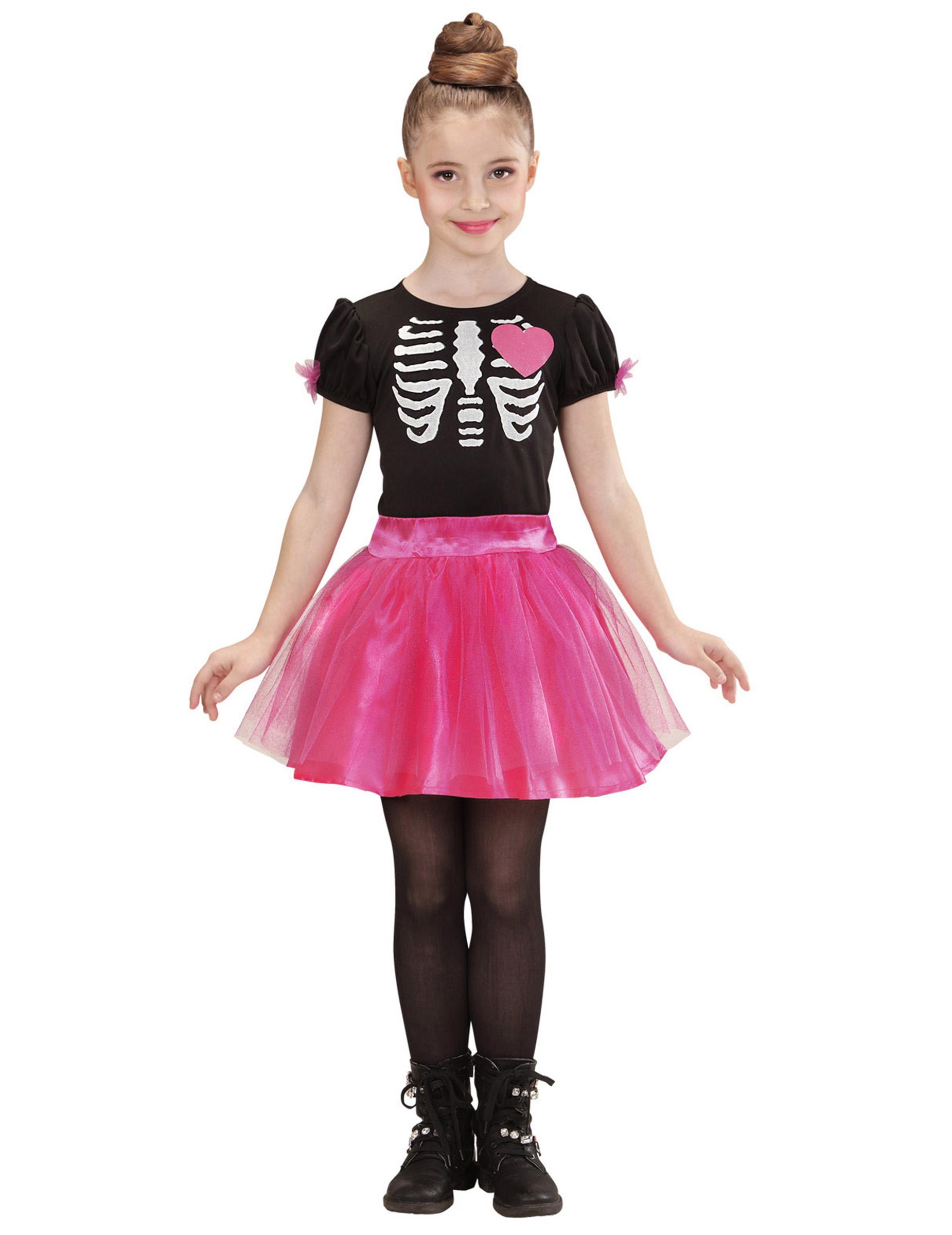 Difraz esqueleto rosa niña Halloween: Disfraces niños,y disfraces ...