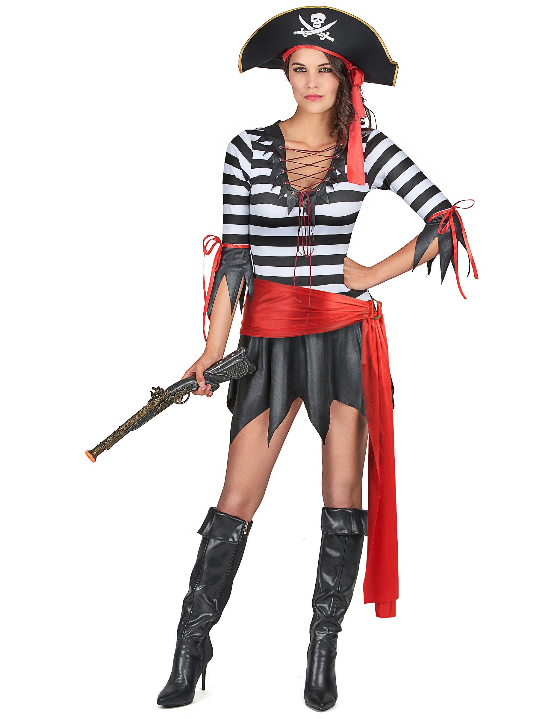 Disfraz pirata mujer a rayas: Disfraces adultos,y disfraces originales baratos - Vegaoo