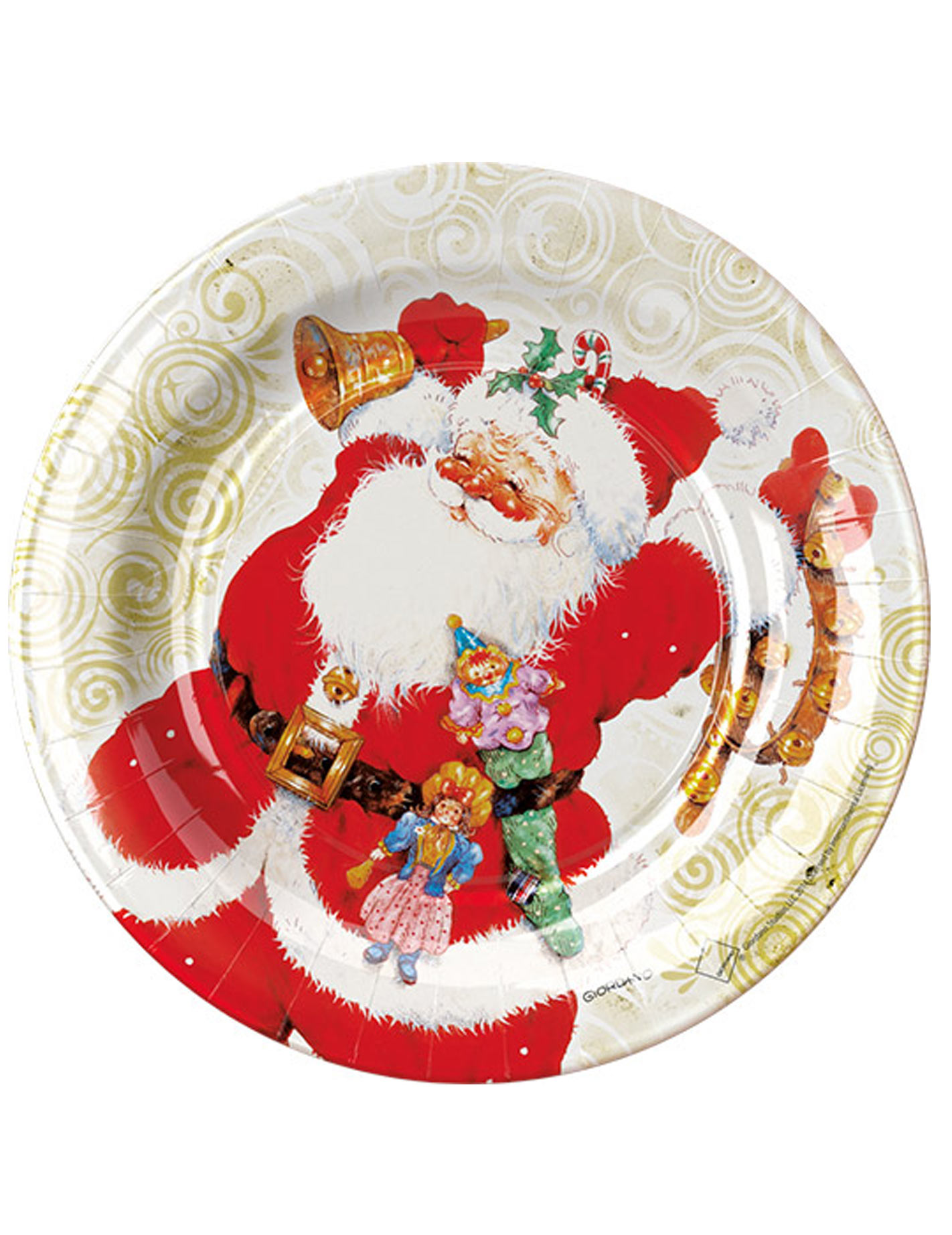 8 platos de pap noel 23 cm decoraci n y disfraces - Platos de decoracion ...