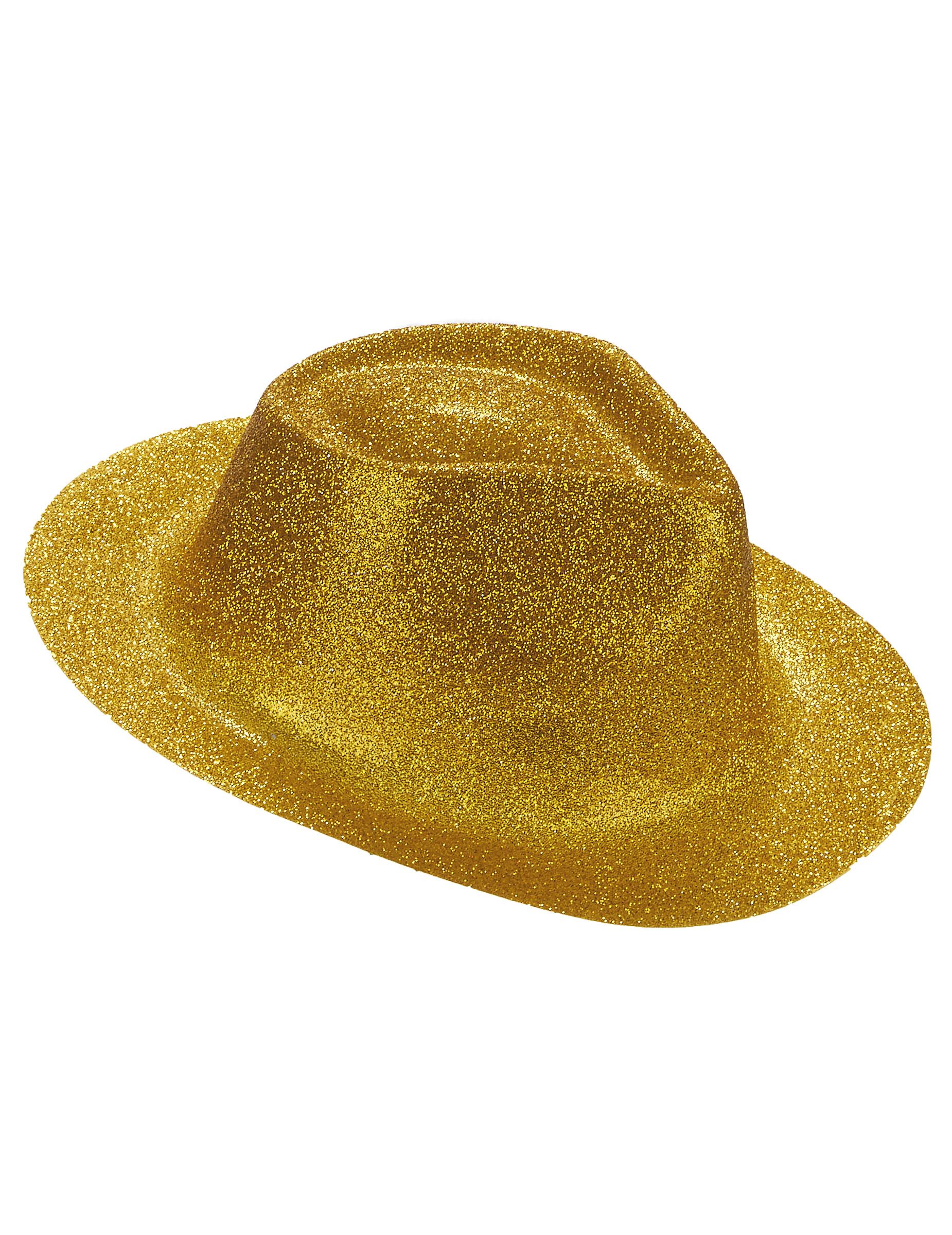 Sombrero purpurina dorada adulto  Sombreros 031f213fb6a