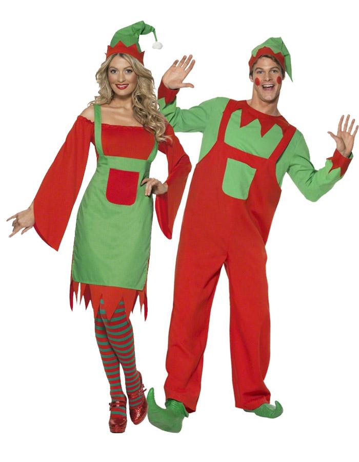 Disfraz pareja duendes disfraces parejas y disfraces - Disfraces duendes navidenos ...