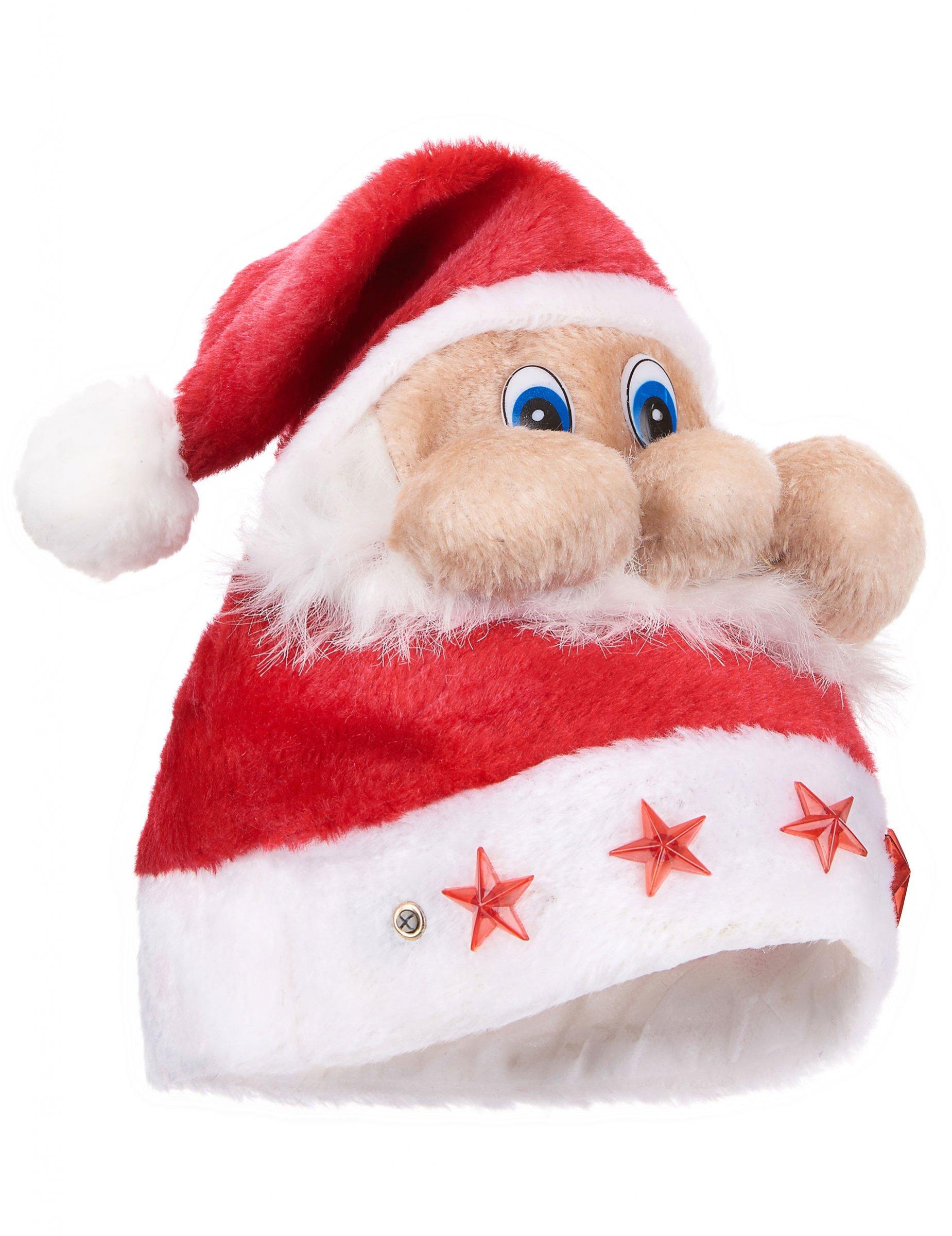 Gorro Papá Noel luminoso  Sombreros b800da7a20f