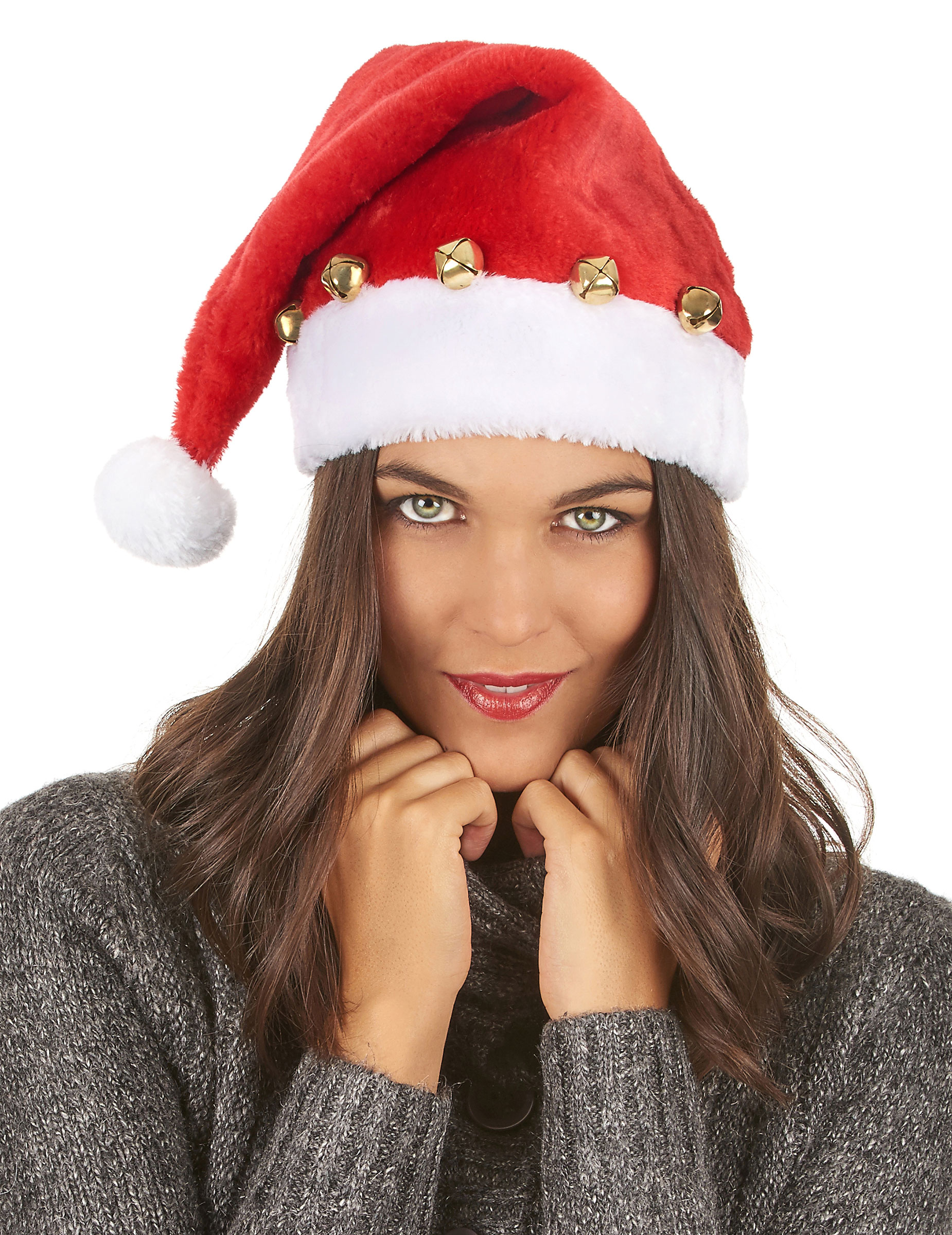 Gorro de Papá Noel con cascabeles  Sombreros f7b184c181d