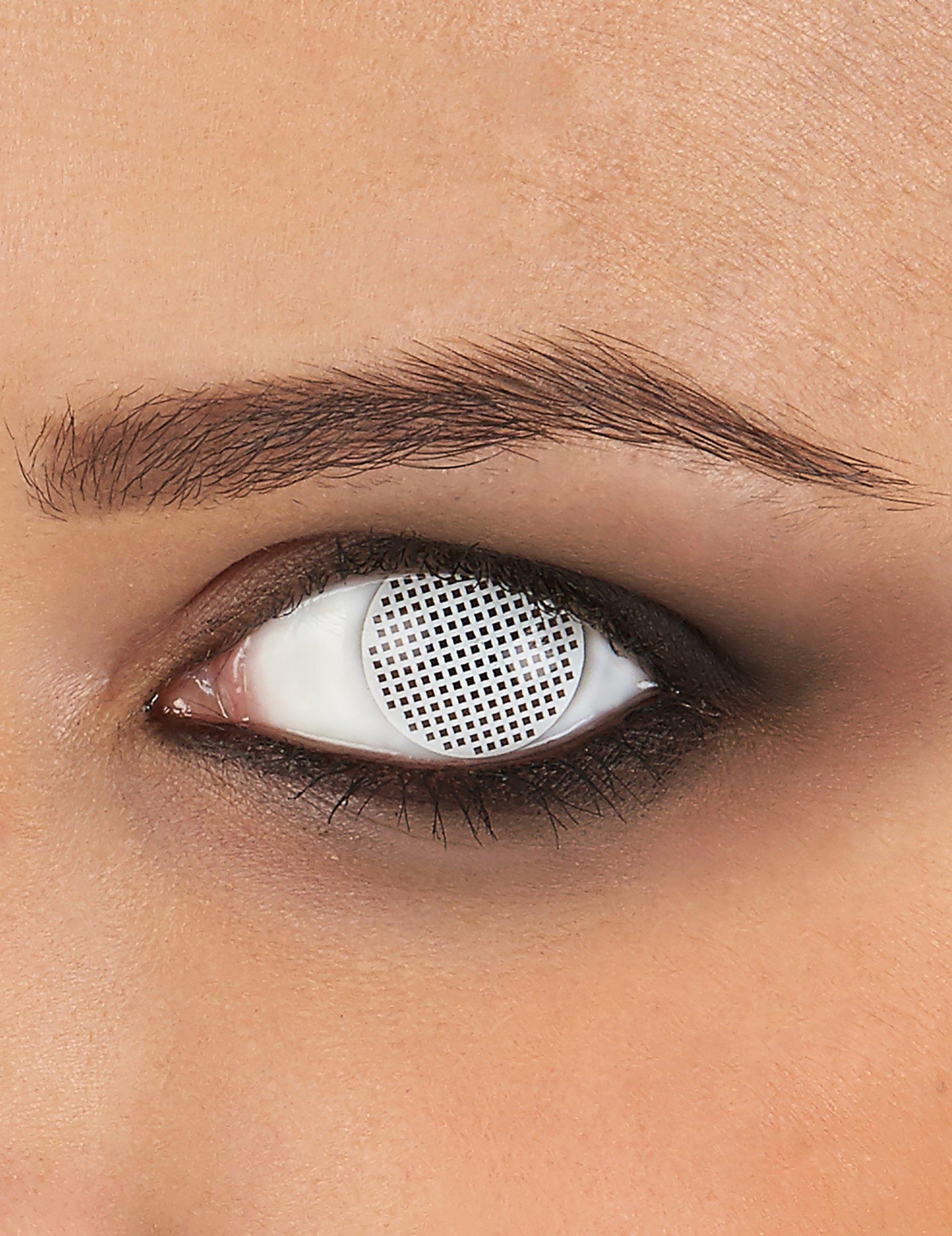 4b120876b2 Lentes de contacto fantasía cuadros blancos: Maquillaje ,y disfraces ...