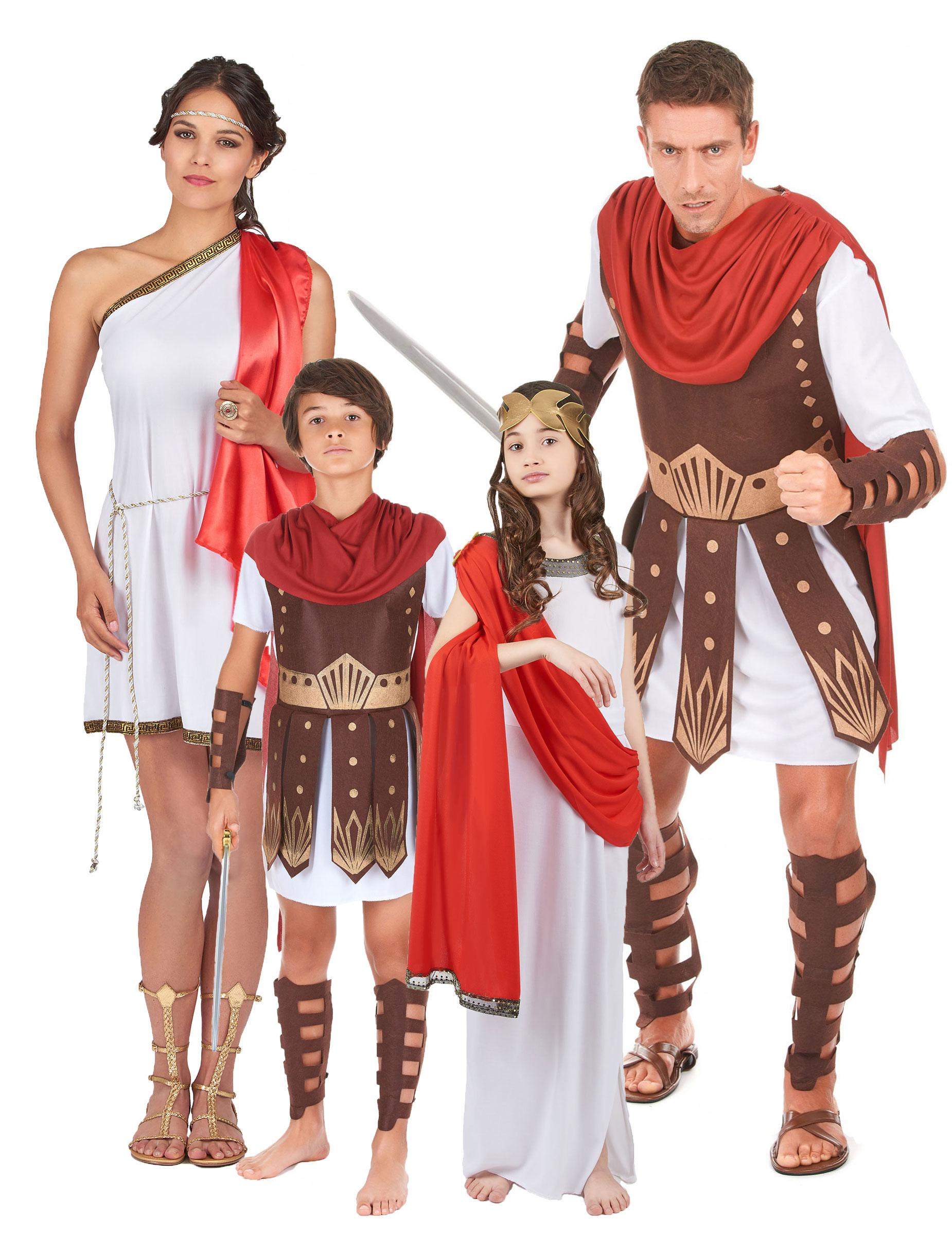 disfraz familia roma antigua