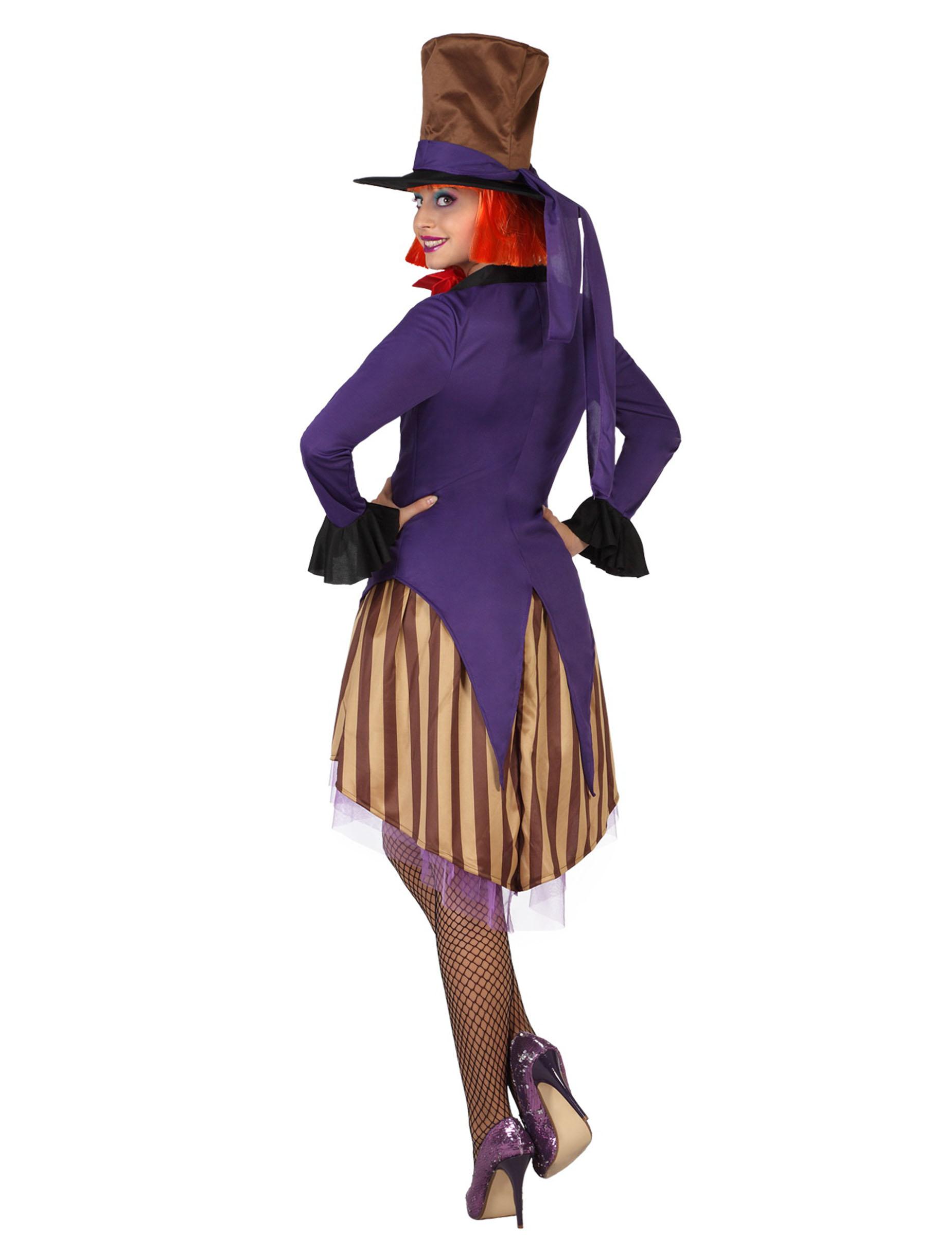 Disfraz de sombrerero para mujer disfraces adultos y - Disfraces carnaval original ...