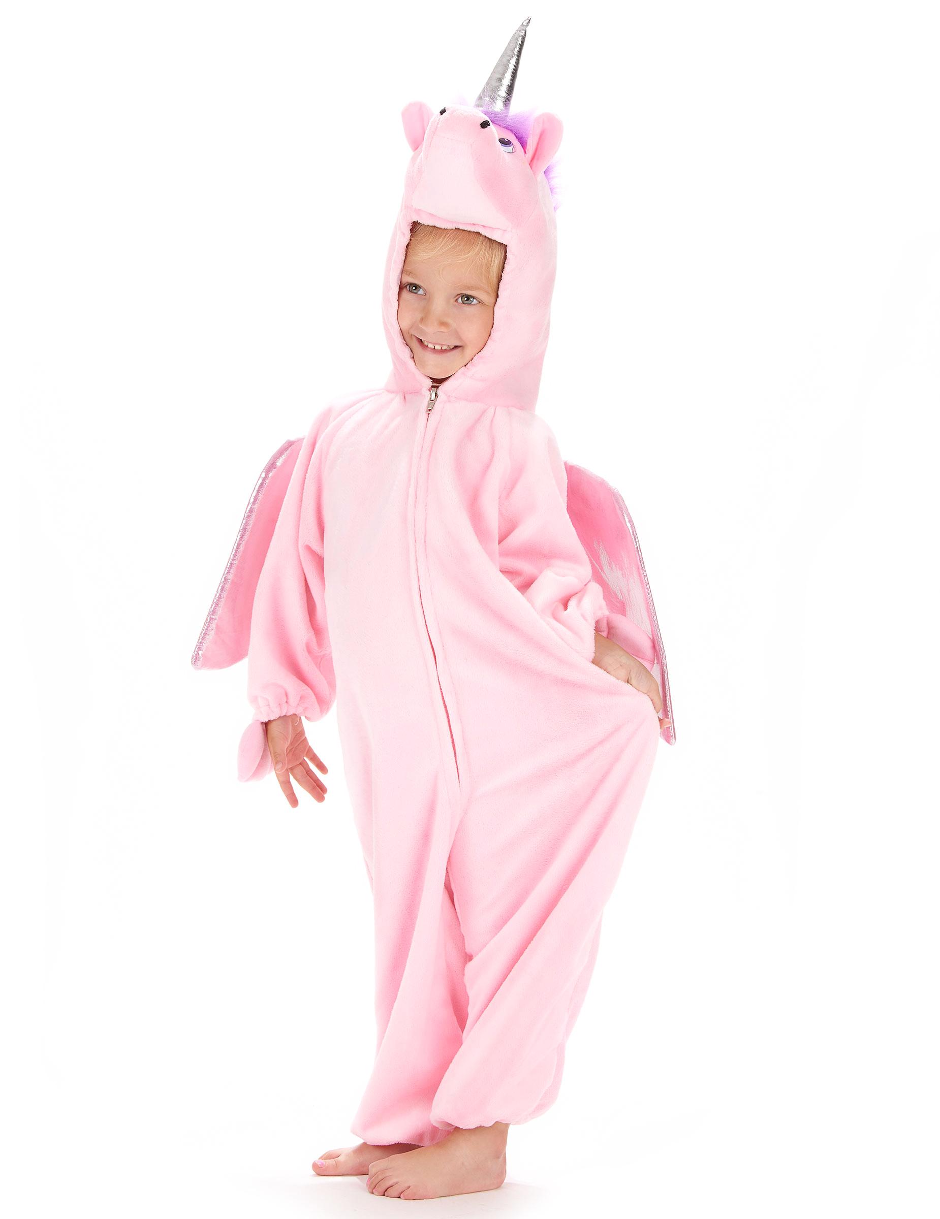 Disfraz unicornio rosado niña