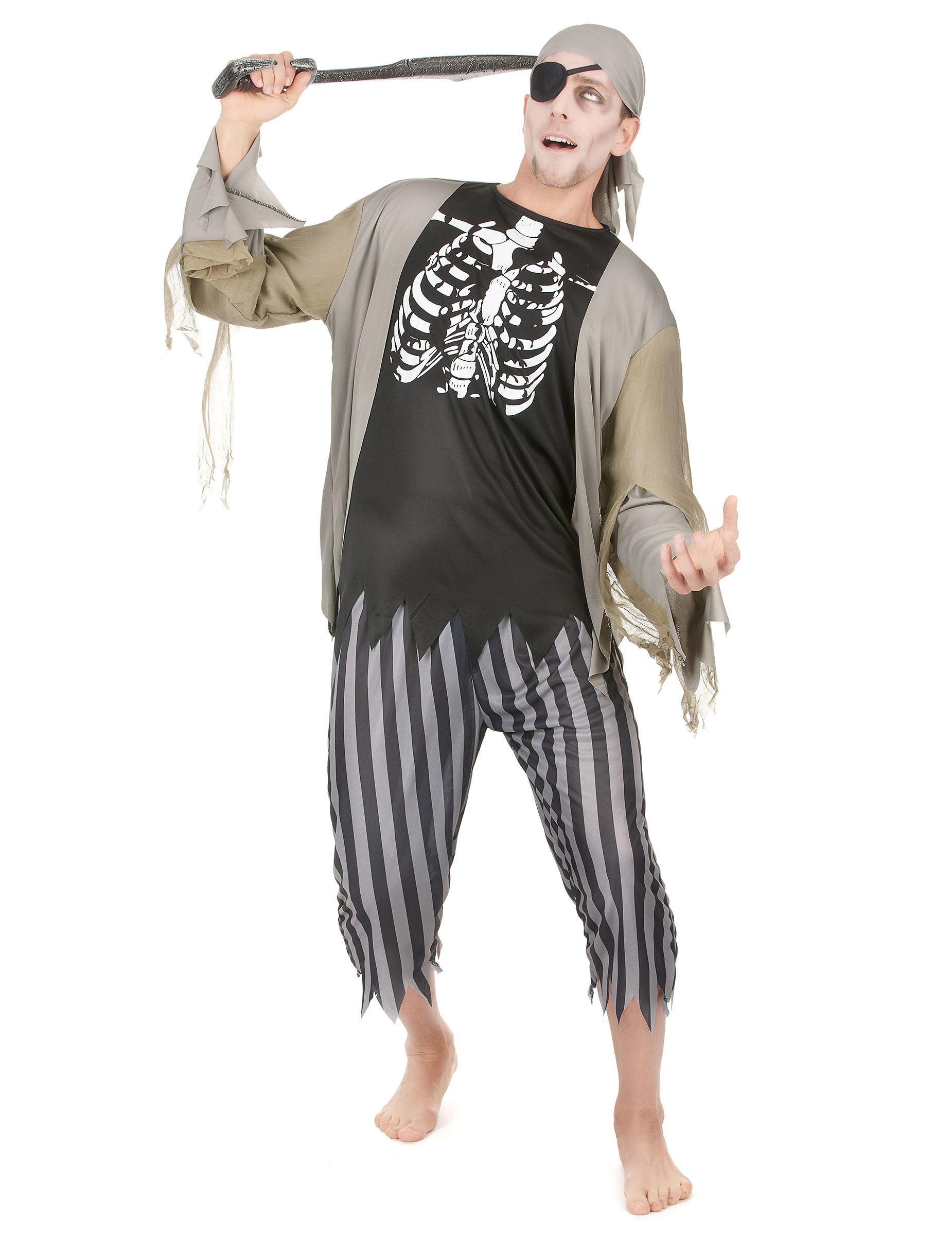 Disfraz pirata zombie hombre: Disfraces adultos,y ...