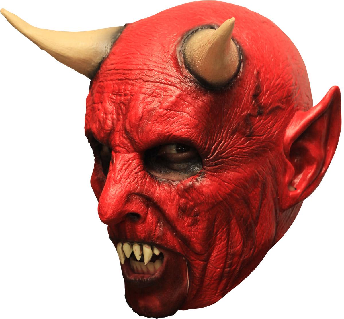 The Devil S Music De Maskers: Máscara 3/4 Demonio Rojo Con Cuernos Y Dientes: Máscaras,y
