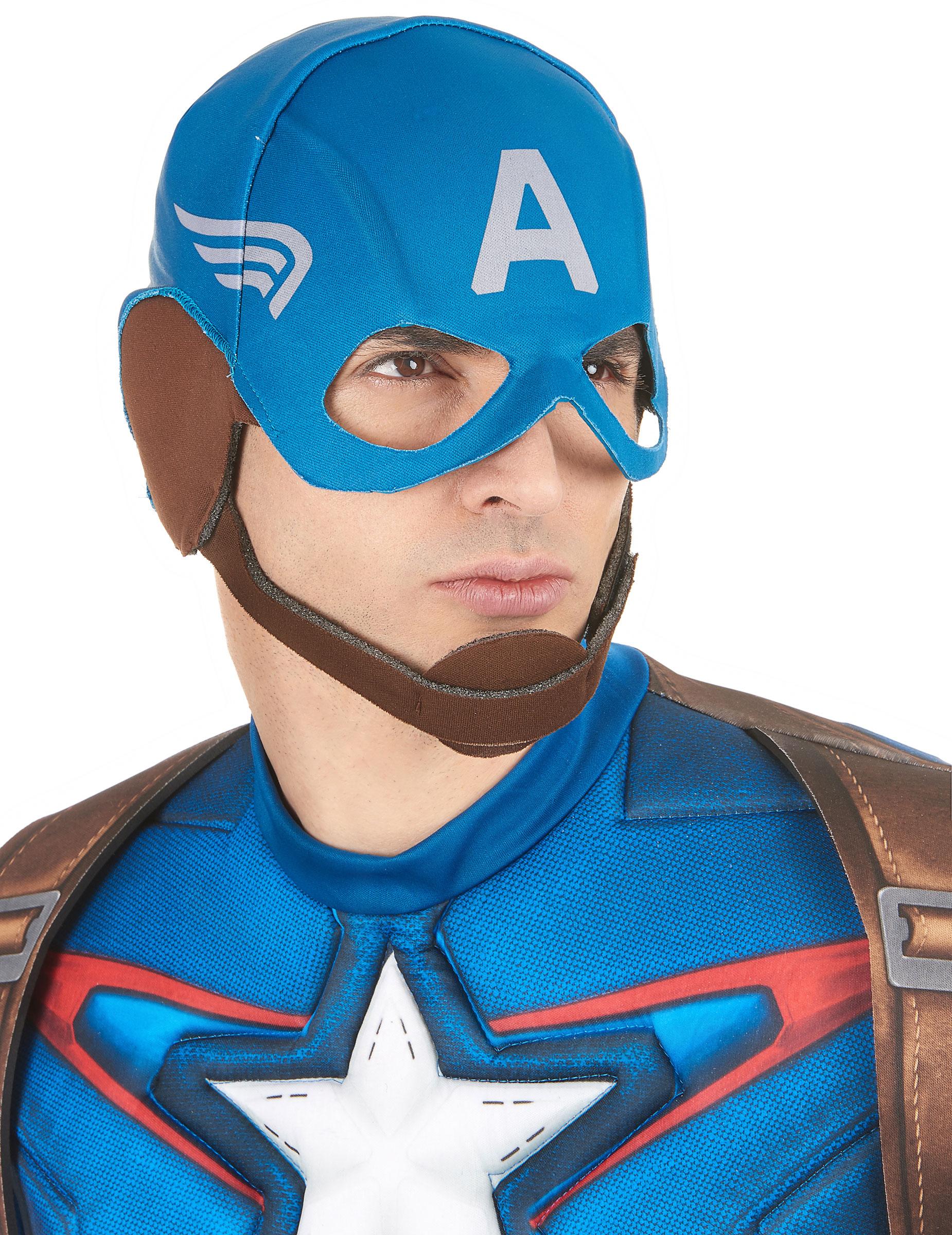 M scara adulto capit n am rica m scaras y disfraces originales baratos vegaoo - Masque de captain america ...