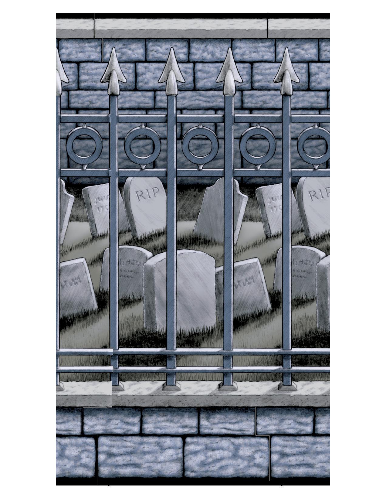 Decoración mural cementerio 12,2 metros