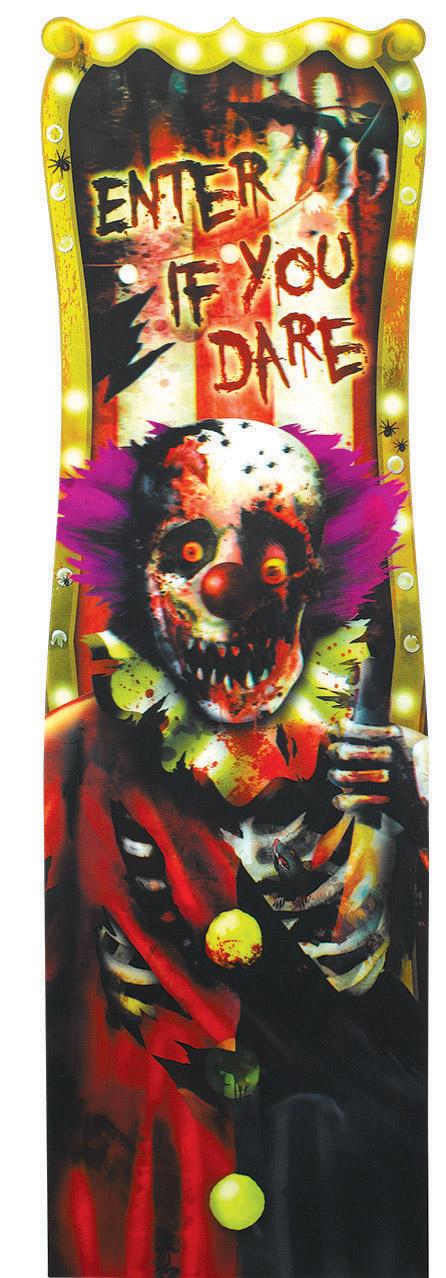 Decoración mural payaso Halloween