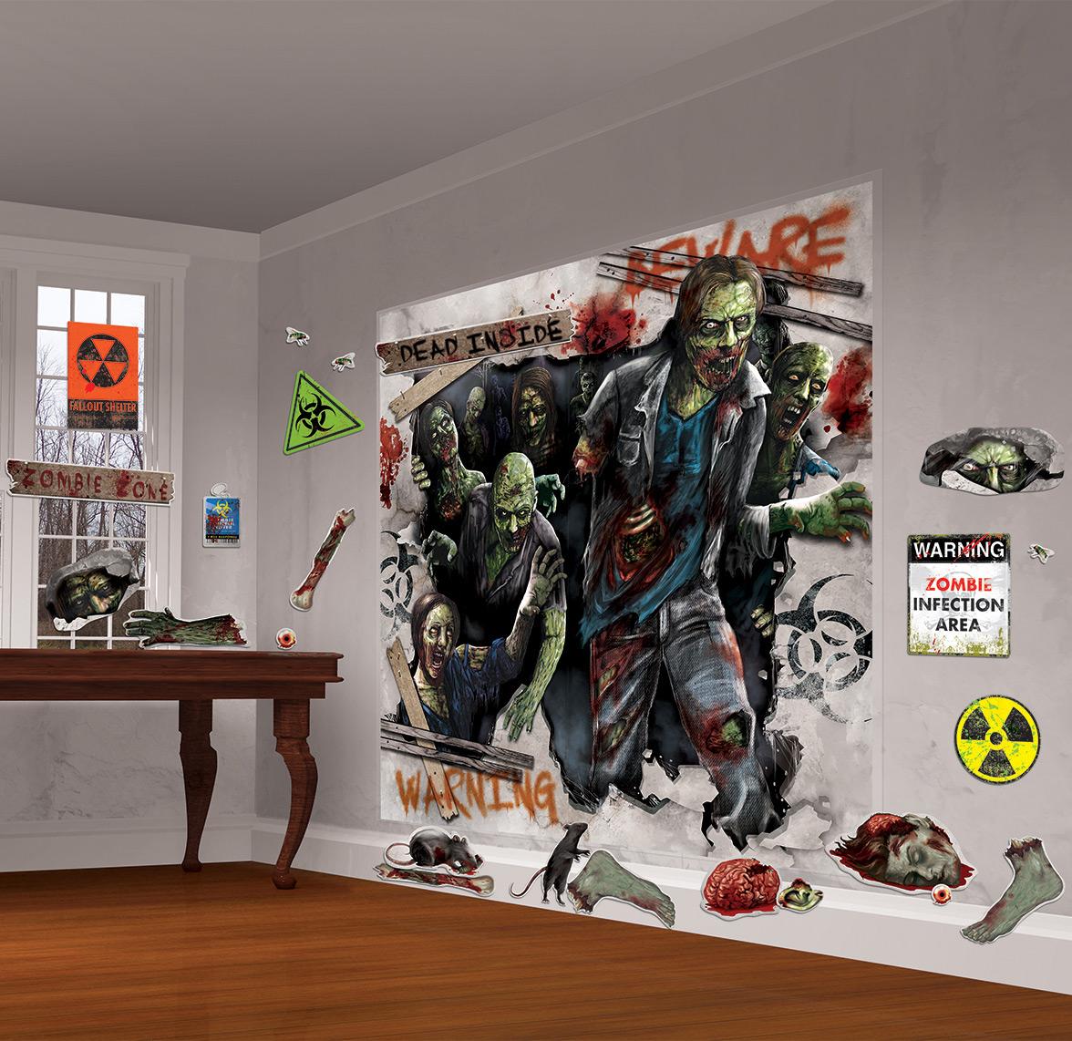 Kit de decoración mural zombies