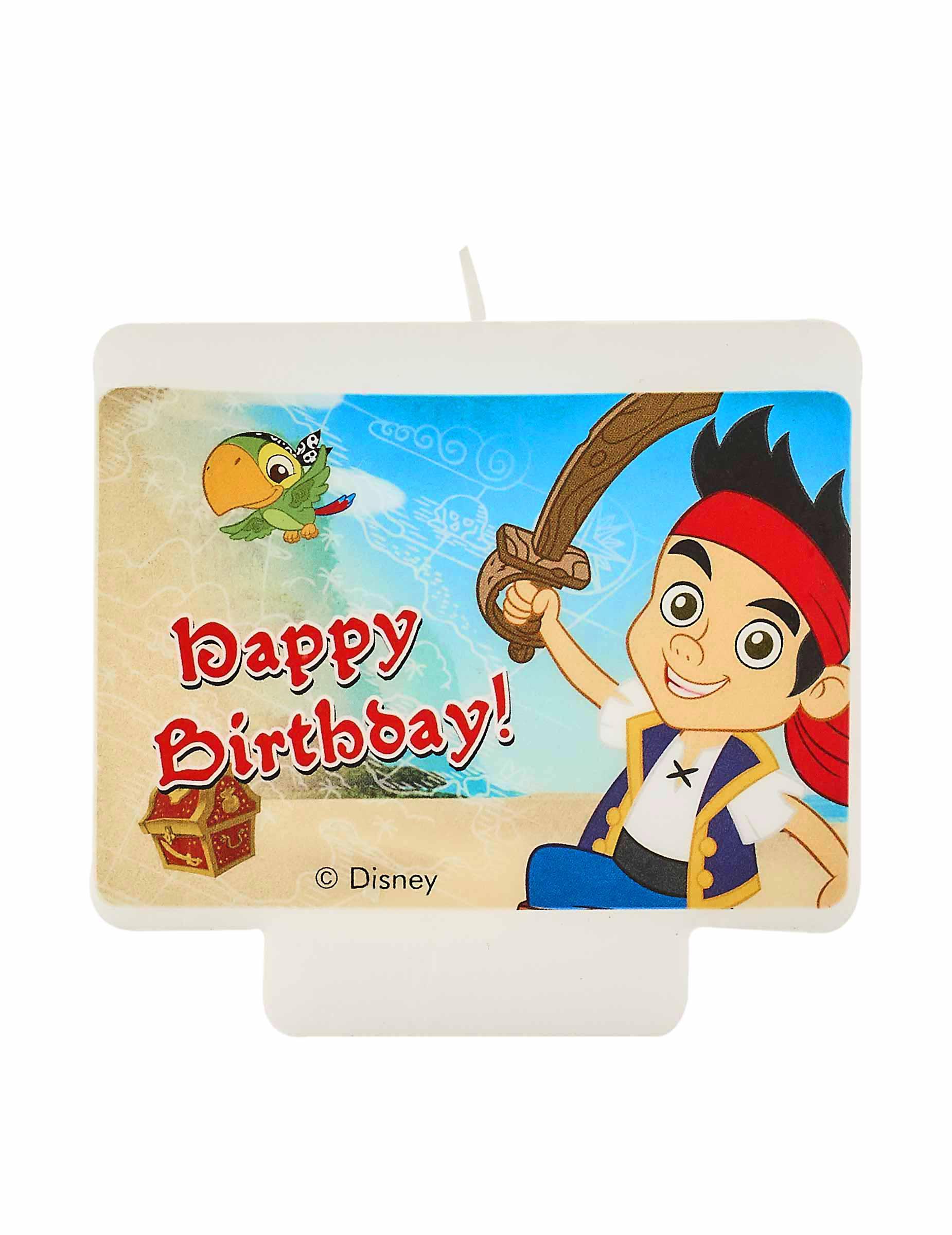 Vela Cumpleaños Jake Y Los Piratas Decoración Y Disfraces