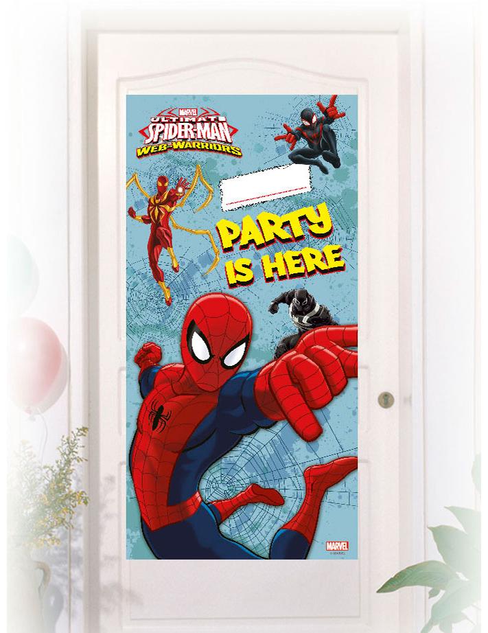 Decoración Mural Spiderman Party