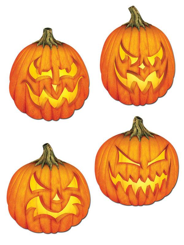4 decoraciones murales calabazas halloween decoraci n y - Calabazas halloween originales para ninos ...