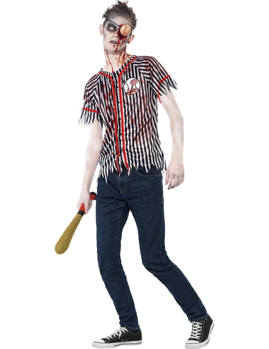disfraz zombie jugador bisbol halloween