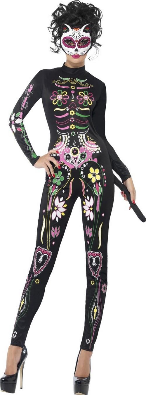 Disfraz esqueleto colorido mujer Halloween Disfraces adultosy