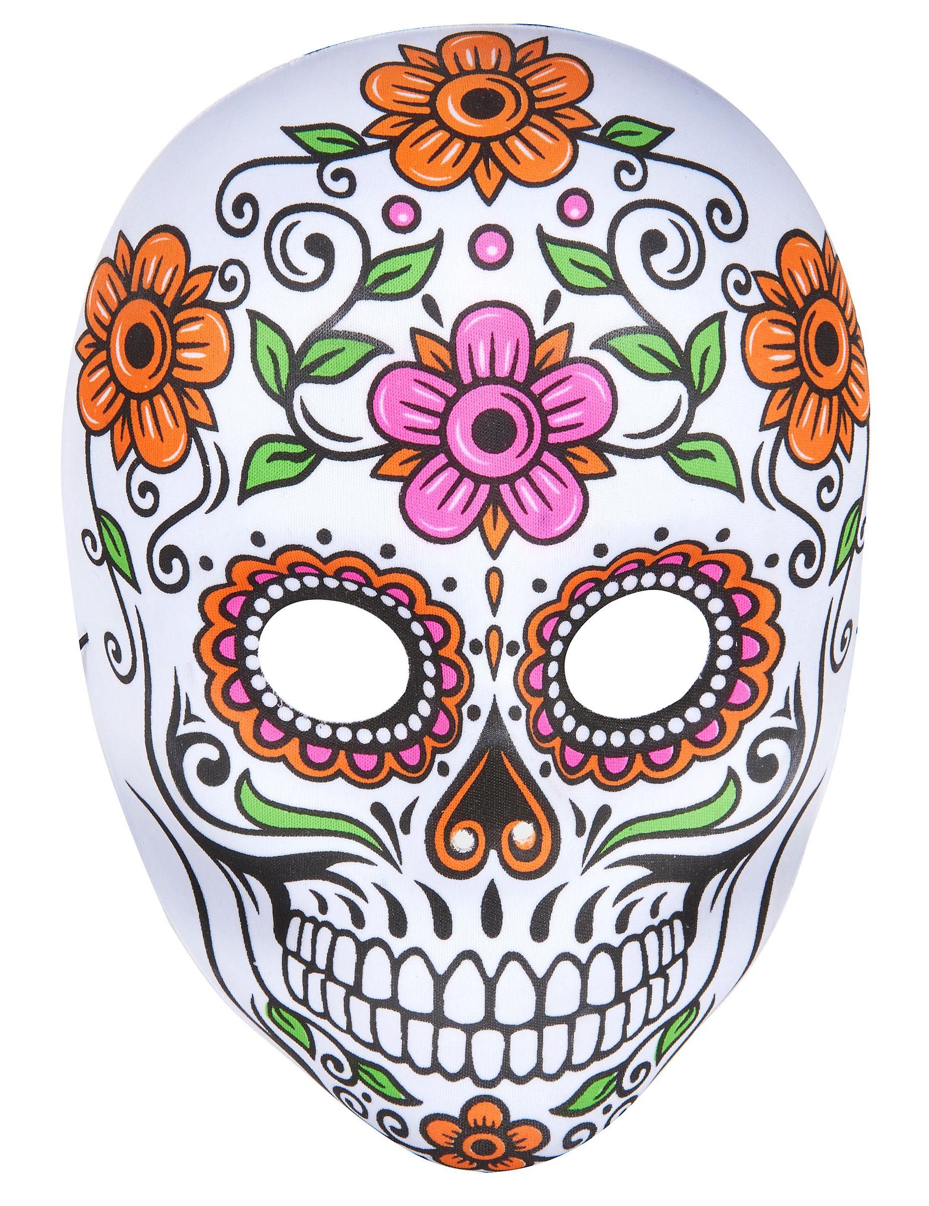 Máscara esqueleto de colores adulto Halloween: Máscaras,y disfraces ...