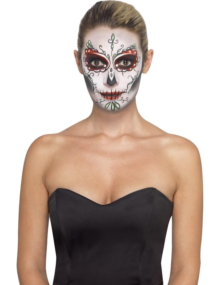 Kit de maquillaje esqueleto de colores adulto: Maquillaje ,y ...