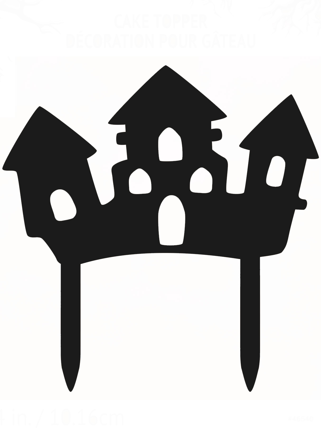 Decoración Pastel Casa Encantada Halloween Decoración Y