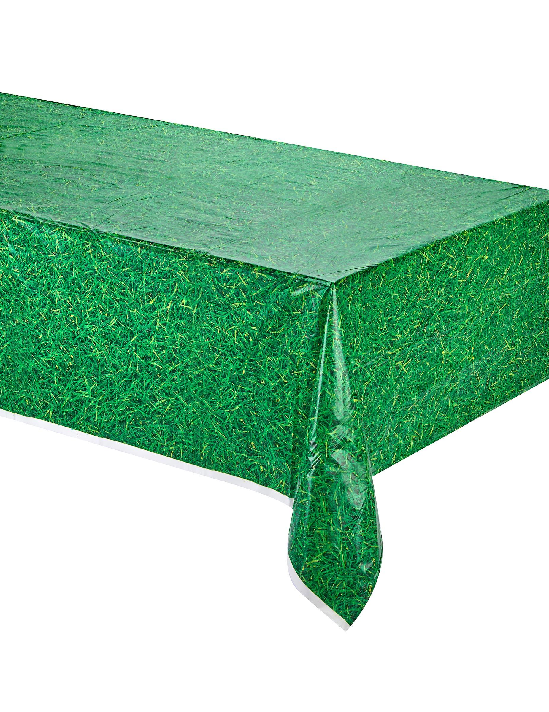 Mantel verde pl stico c sped 137x274 cm decoraci n y disfraces originales baratos vegaoo - Mantel plastico ...