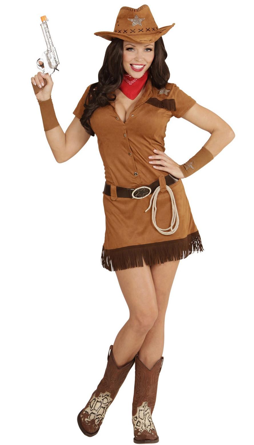 Disfraz vaquero del oeste mujer  Disfraces adultos e56da8ff518a