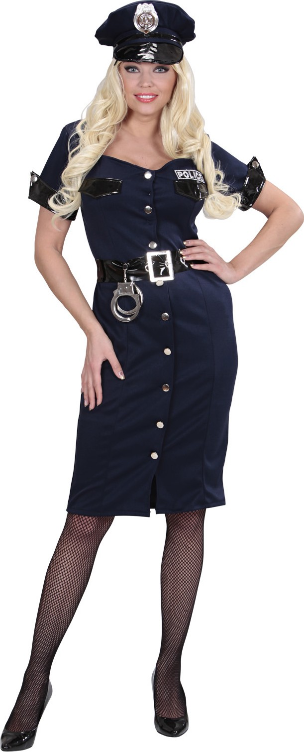 Disfraz de policía vestido mujer  Disfraces adultos 3bccb071933